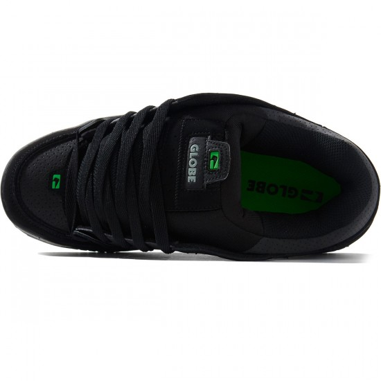 Globe Fusion Shoes - Black/Black/Green - 8.0