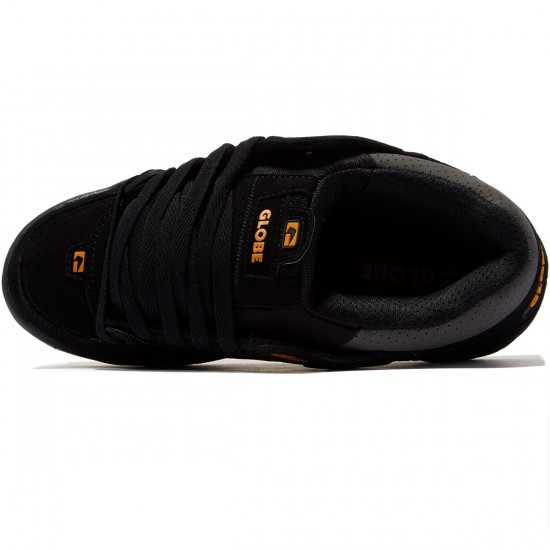 Globe Fusion Shoes - Black/Caramello/Chocolate - 8.0