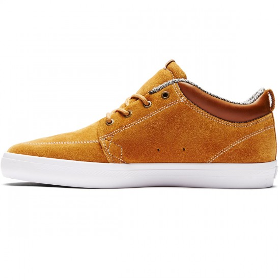 Globe GS Chukka Shoes - Dark Caramel/White - 8.0