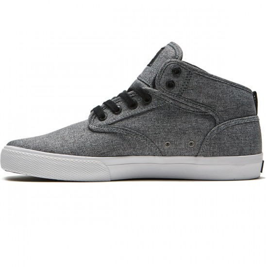 Globe Motley Mid Shoes - Black Chambray/White - 8.5