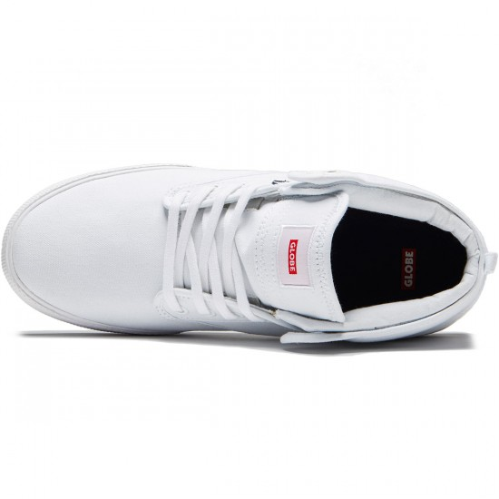 Globe Motley Mid Shoes - White - 8.0