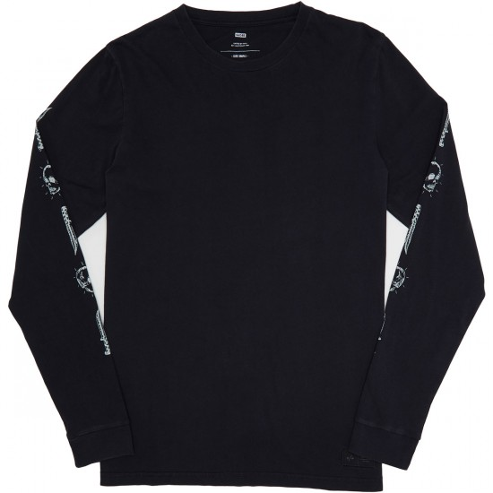 Globe Dion Pirate Longsleeve T-Shirt - Washed Black