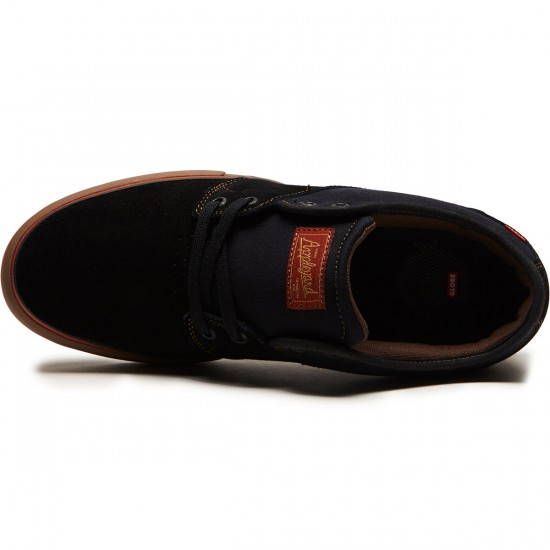 Globe Mahalo Shoes - Black/Tobacco - 8.5