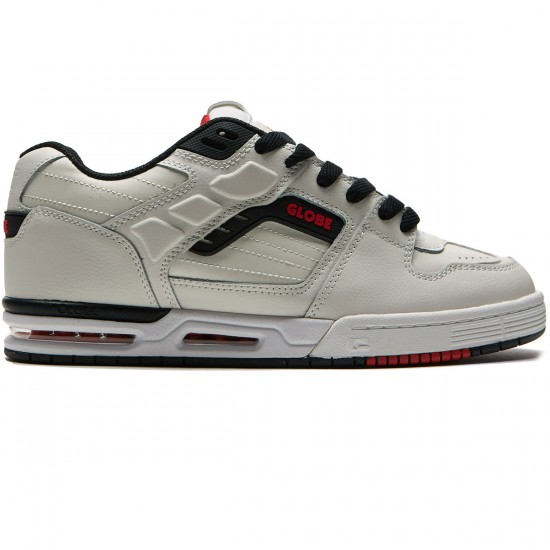 Globe Fury Shoes - White/Black/Red