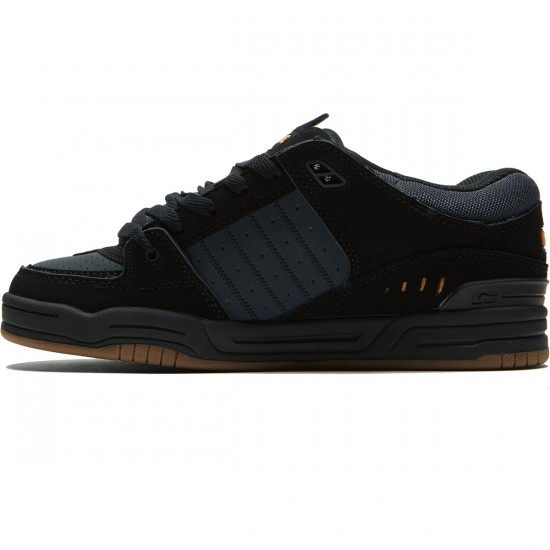 Globe Fusion Shoes - Black/Ebony/Orange - 8.5