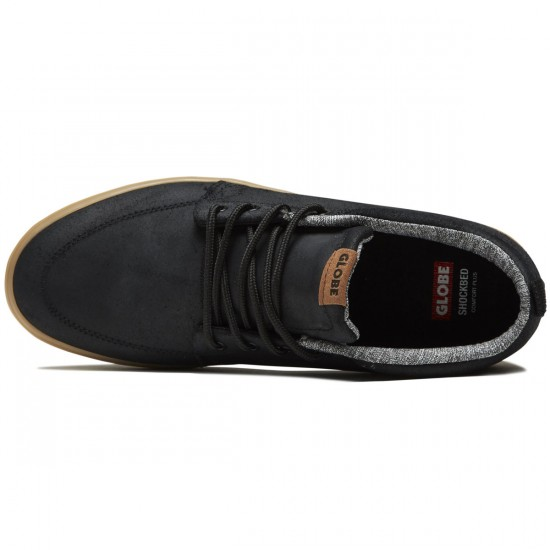 Globe GS Chukka Shoes - Black Oiled/Gum - 8.0