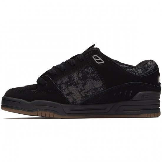 Globe Fusion Shoes - Black/Camo/Jaquard - 8.0