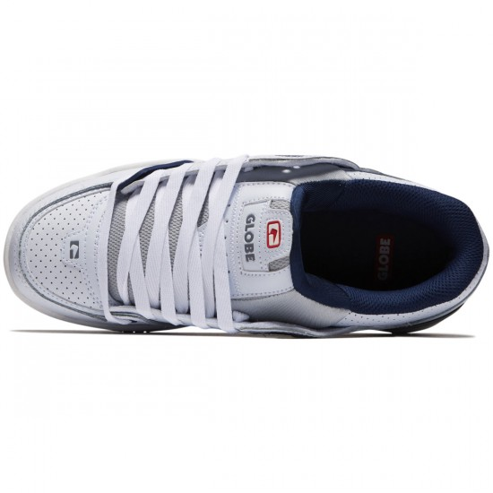 Globe Fusion Shoes - White/Blue