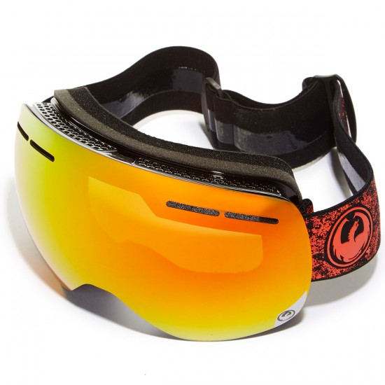 Dragon X1s Snowboard Goggles - Energy Scarlet/Red Ion