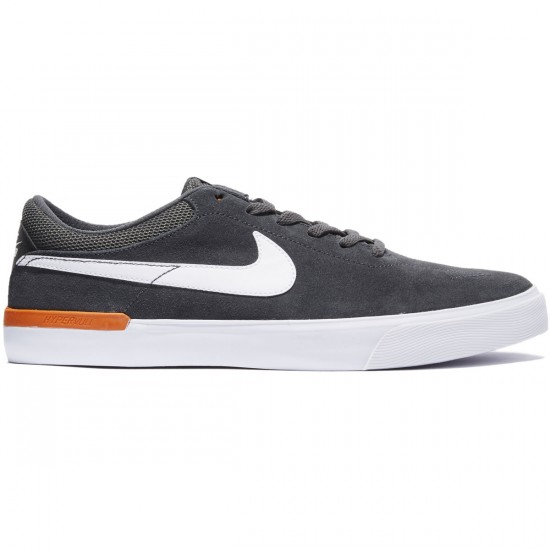 Nike SB Koston Hypervulc Shoes - Anthracite/White Clay/Orange - 7.0
