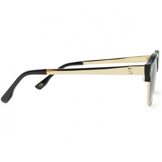 Glassy Paul Polarized High Roller Sunglasses - Black/Gold