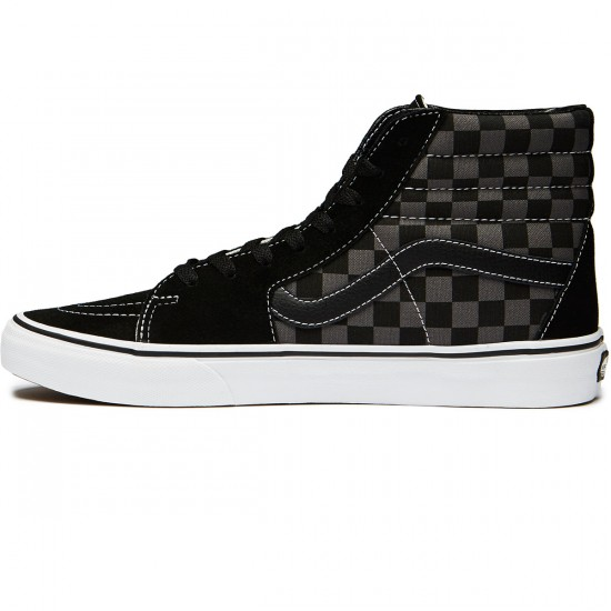 Vans Sk8-Hi Shoes - Checkerboard Black/Pewter - 8.0
