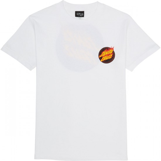 Santa Cruz Flaming Dot T-Shirt - White
