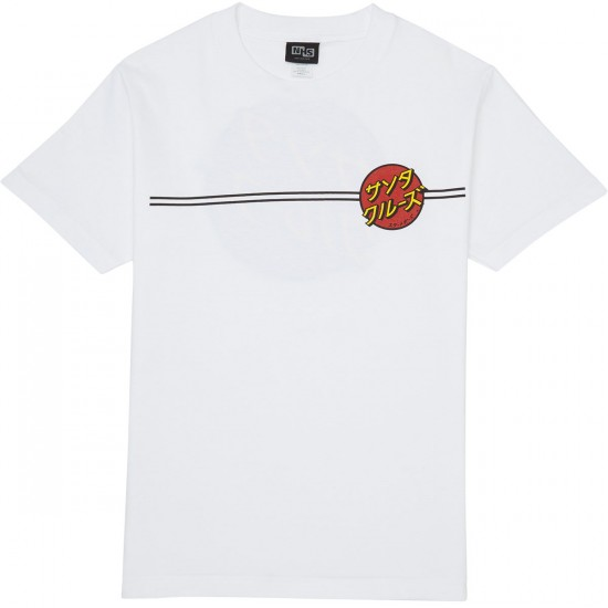 Santa Cruz Japanese Dot T-Shirt - White