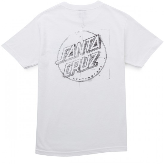 Santa Cruz Sketchy Dot T-Shirt - White