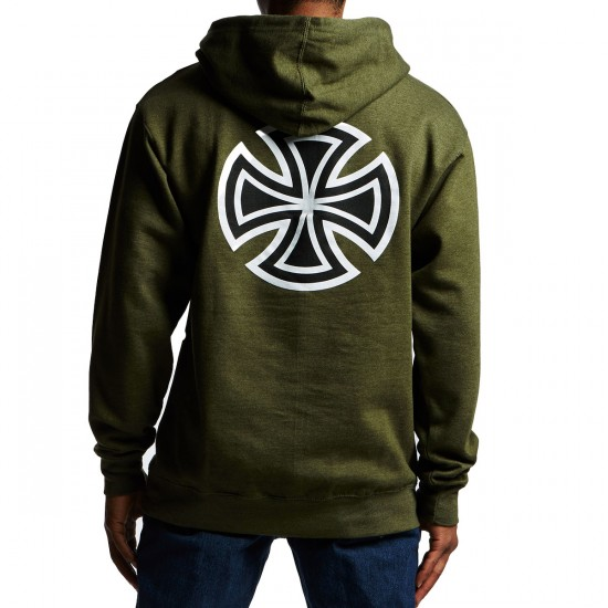 Independent Bar Cross Pullover Hoodie - Army Heather
