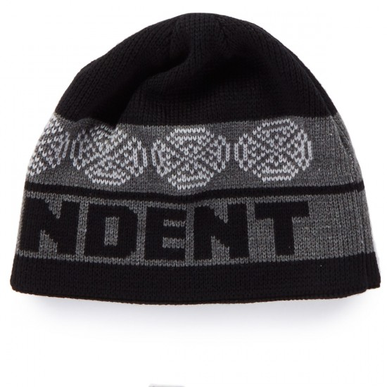 Independent Woven Crosses Beanie - Black/Grey