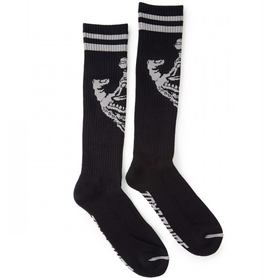 Santa Cruz Hand Tall Socks - Black