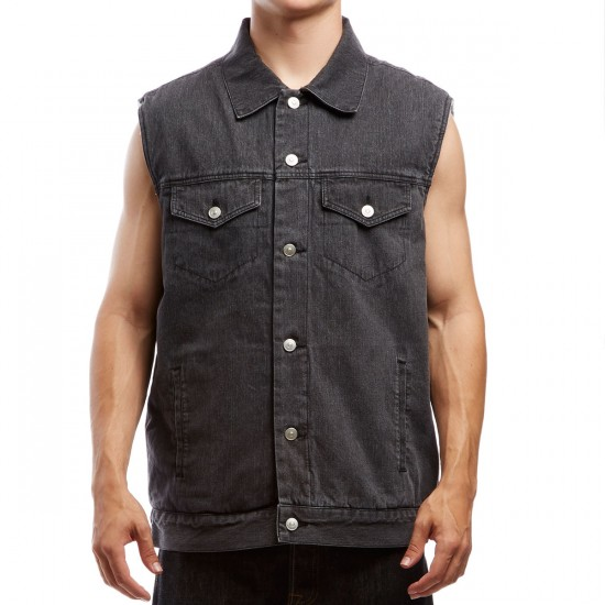 Creature Plague Button Up Vest - Black