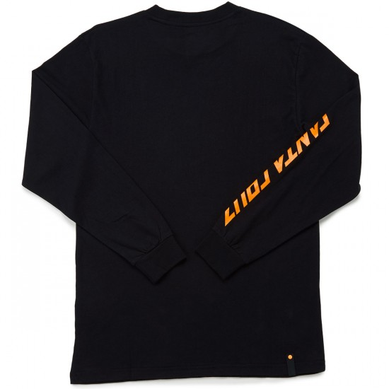 Santa Cruz Simple Dot Long Sleeve T-Shirt - Black