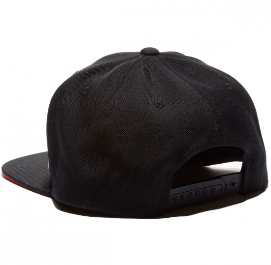 Santa Cruz Block Strip Badge Snapback Hat - Black