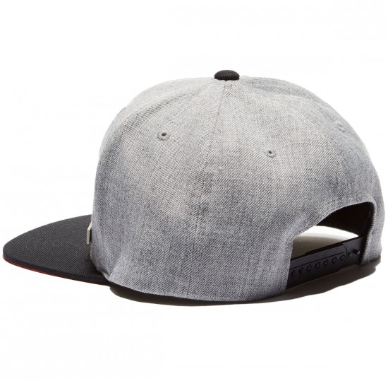 Santa Cruz Block Strip Badge Snapback Hat - Grey Melange/Black
