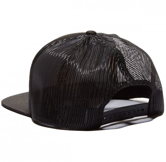 Santa Cruz Block Strip Trucker Hat - Black