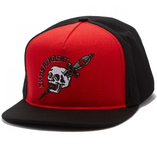 Independent Dressen Dagger Snapback Hat - Red/Black