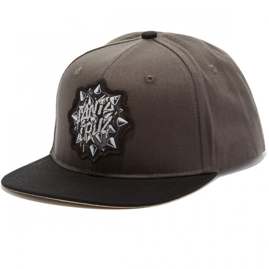 Santa Cruz Mace Dot Snapback Hat - Charcoal/Black
