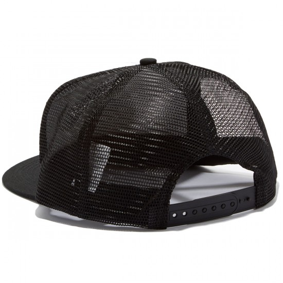Independent Weathered Cross Trucker Hat - White/Black