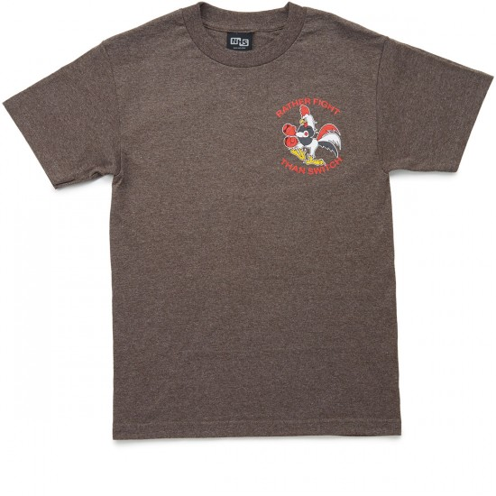 Independent Rather Fight T-Shirt - Brown Heather