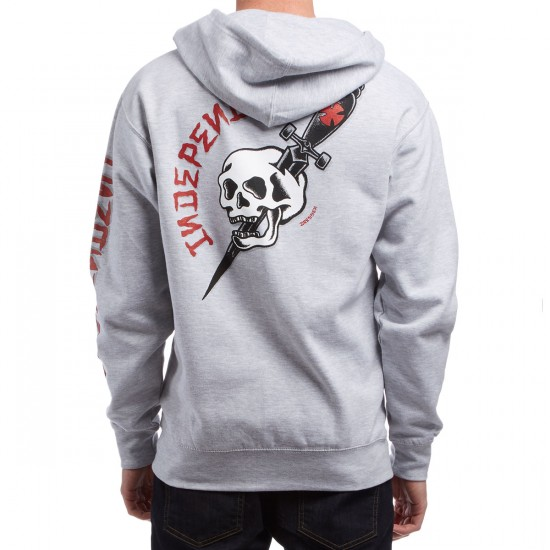 Independent Dressen Dagger Zip Hoodie - Grey Heather