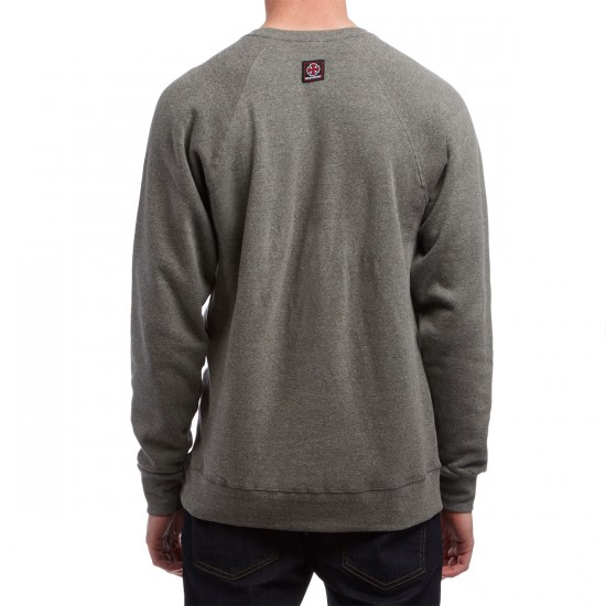 Independent Cross Crew Neck Sweatshirt - Nickel