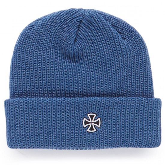 Independent Cross Ribbed Beanie - Heather Denim