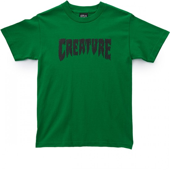 Creature Shredded T-Shirt - Kelly Green