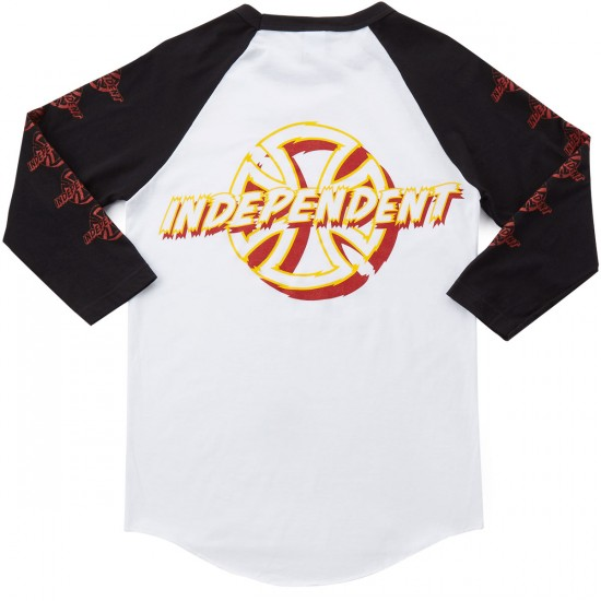 Independent Shred 3/4 Sleeve T-Shirt - White/Black
