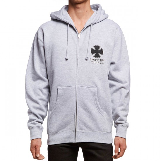 Independent Time Is Short Zip Hoodie - Grey Heather