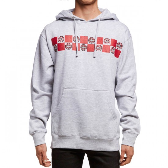 Independent Banner Repeat Pullover Hoodie - Grey Heather