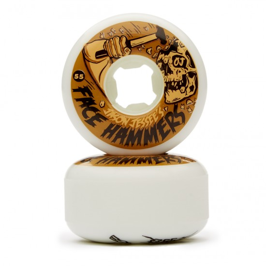 OJ Jessee Face Hammers EZ Edge Insaneathane Skateboard Wheels - White - 55mm 101a