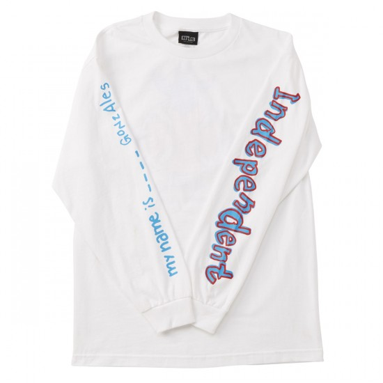 Independent My Name Is Gonzales Long Sleeve T-Shirt - White