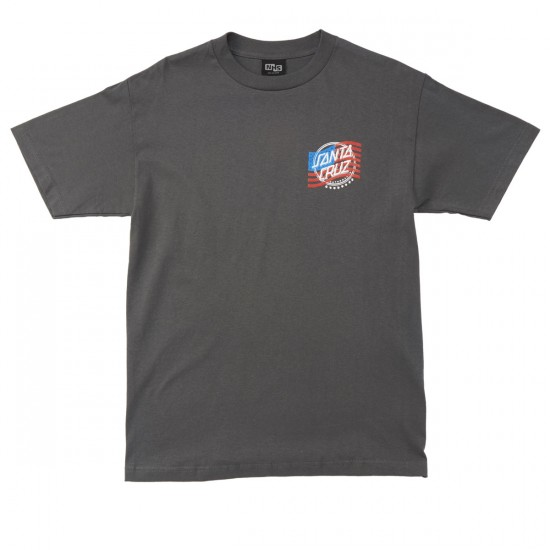 Santa Cruz Flagged USA T-Shirt - Charcoal