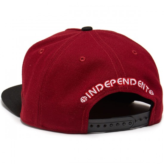 Independent Classic Label New Era Snapback Hat - Maroon/Black