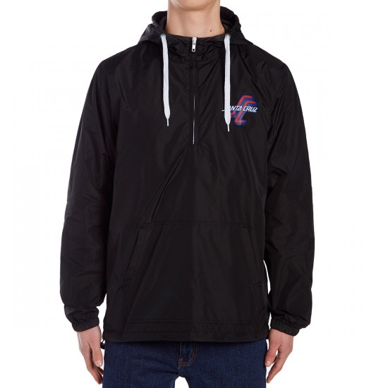 Santa Cruz OGSC Hooded Windbreaker Jacket - Black