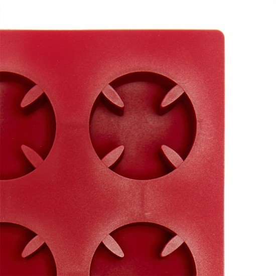 Independent Cross Molded Ice Cube Tray  - Red