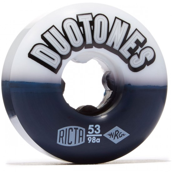 Ricta Duo Tones 98a Skateboard Wheels - White/Black - 53mm
