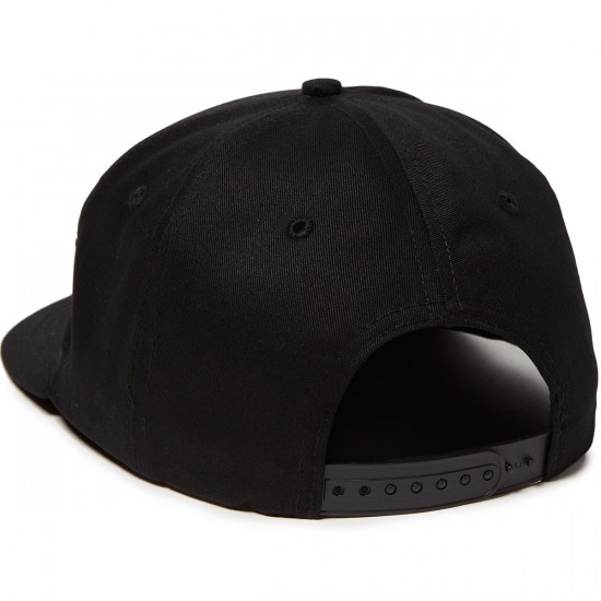 Santa Cruz Dot Adjustable Snapback Hat - Black