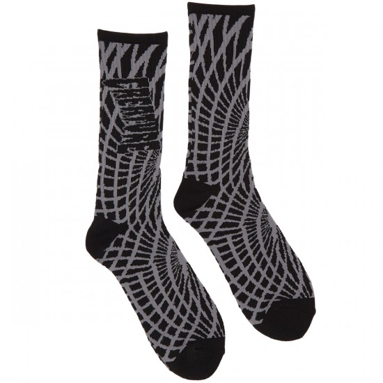 Creature Face Melters Crew Socks - Black/Grey