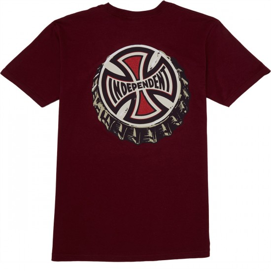Independent Only Choice T-Shirt - Burgundy