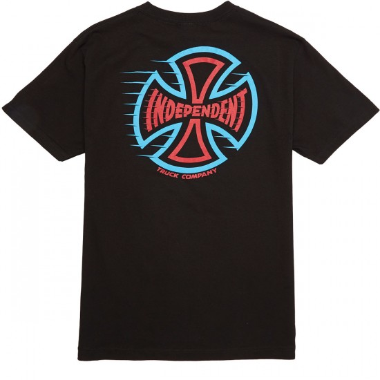 Independent T/C Speeding Cross T-Shirt - Black