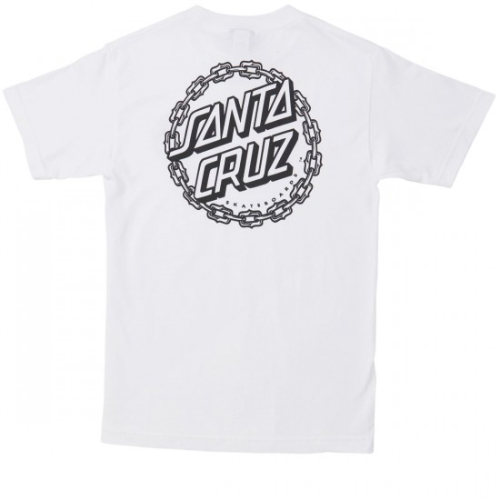 Santa Cruz Chain Dot T-Shirt - White